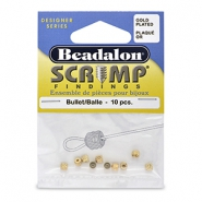 Scrimps 3.6mm Beadalon Gold