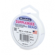 Rijgdraad Beadalon Supplemax braided 0.50mm 25 meter Clear
