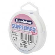 Rijgdraad Beadalon Supplemax Ultra 0.25mm 25 meter White