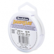 Rijgdraad Beadalon DandyLine 0.15 mm White