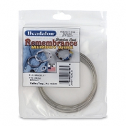 Remembrance memory wire extra large bracelet Beadalon Bright Stainless Steel