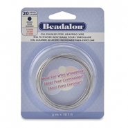 Wrapping wire stainless steel Beadalon 20Gauge Bight Stainless Steel