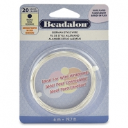 German style wire Beadalon 20Gauge round Silver