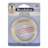 German style wire Beadalon 22Gauge round Gold