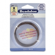 German style wire Beadalon 24Gauge round Antique Brass