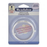 German style wire Beadalon 24Gauge round Silver