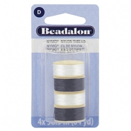 Nymo wire Beadalon 0.3mm 4-pack White, Black