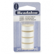 Nymo wire Beadalon 0.3mm 4-pack White