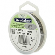 7 draads rijgdraad 0.51mm Beadalon Bright Stainless Steel