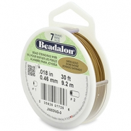 7 draads rijgdraad 0.46mm Beadalon Satin Gold