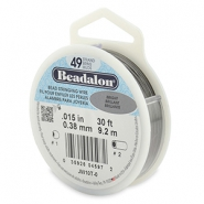 49 draads rijgdraad 0.38mm Beadalon Bright Stainless Steel