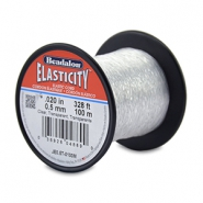 Rijgdraad elastiek Beadalon 0.5mm 100 meter Clear