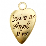 "Metaal bedels TQ hart ""You're an Angel to me"" Goud (nikkelvrij)"