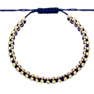 Hippe armbanden strass Dark blue-crystal