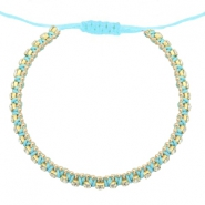 Hippe armbanden strass Light turquoise blue-crystal