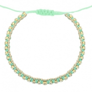 Hippe armbanden strass Light turquoise green-crystal