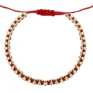 Hippe armbanden strass Cherry red-crystal