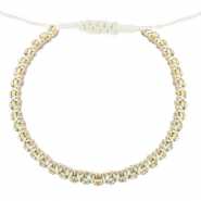 Hippe armbanden strass Off white-crystal
