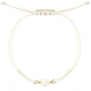 Hippe armbanden stone Off white-light gold