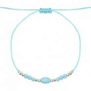 Hippe armbanden stone&facet Light turquoise blue-light gold