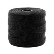 Nylon S-Lon rijgdraad 0.6mm Black