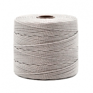 Nylon S-Lon rijgdraad 0.6mm Silver grey