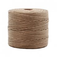 Nylon S-Lon rijgdraad 0.6mm Medium brown