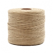 Nylon S-Lon rijgdraad 0.6mm Beige brown