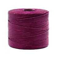 Nylon S-Lon rijgdraad 0.6mm Wineberry red