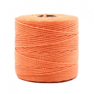 Nylon S-Lon rijgdraad 0.6mm Peach orange
