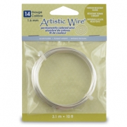 Artistic Wire 14 Gauge Silver plated Tarnish resistant Silver
