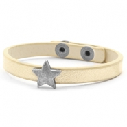 Hippe armbanden stud star Soft yellow gold