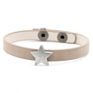 Hippe armbanden stud star Country brown