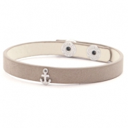 Hippe armbanden stud anchor Country brown