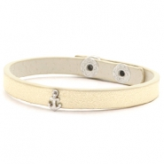 Hippe armbanden stud anchor Soft yellow gold