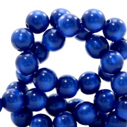 Polaris kralen 10 mm rond pearl shine Cobalt blue