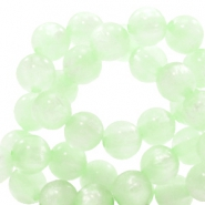 Polaris kralen 6 mm rond pearl shine Relaxing Green