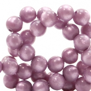 Polaris kralen 10 mm rond pearl shine Light mauve purple