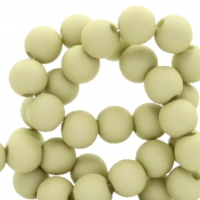 8 mm kralen van acryl Pale olive green