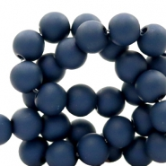 6 mm kralen van acryl Anthracite blue
