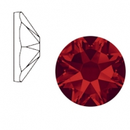 Swarovski Elements flat back 2088-SS 34 (7mm) Xirius Rose Light siam red