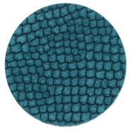 Cabochons DQ leer 35mm Porcelain blue