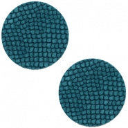 Cabochons DQ leer 12mm Porcelain blue