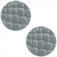 Cabochons DQ leer 12mm Grey