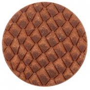 Cabochons DQ leer 35mm Chestnut Brown
