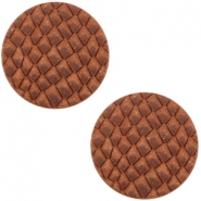 Cabochons DQ leer 20mm Chestnut Brown