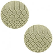 Cabochons DQ leer 20mm Willow green