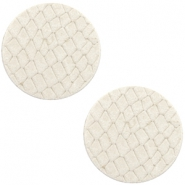 Cabochons DQ leer 20mm Off white