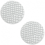 Cabochons DQ leer 20mm Star white