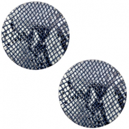 Cabochons DQ leer 12mm Snake dark blue